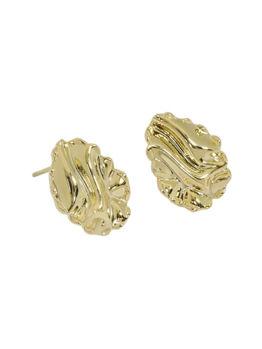 14K gold 925 Sterling Silver Geometric Vintage Stud Earring