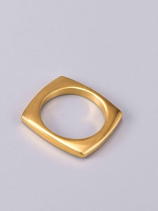 A TEEM Titanium Steel Hollow Round Minimalist Band Ring 3