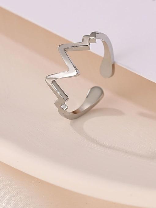 MIYA Titanium Steel Irregular wave Minimalist Band Ring 2