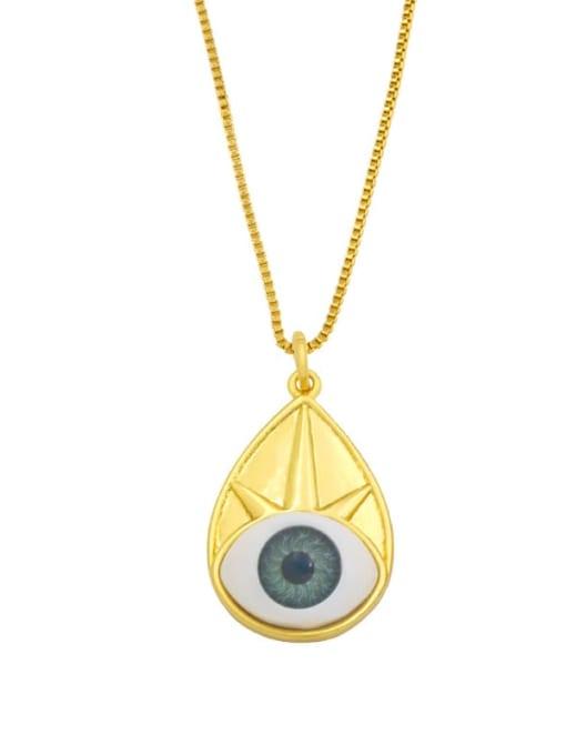 CC Brass Cubic Zirconia Evil Eye Vintage Necklace 1