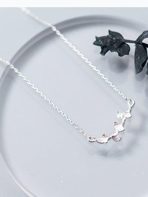 Rosh 925 Sterling Silver Irregular Minimalist Necklace