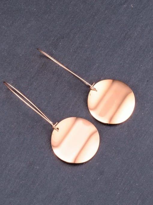A TEEM Titanium Letter Minimalist Hook Earring 2