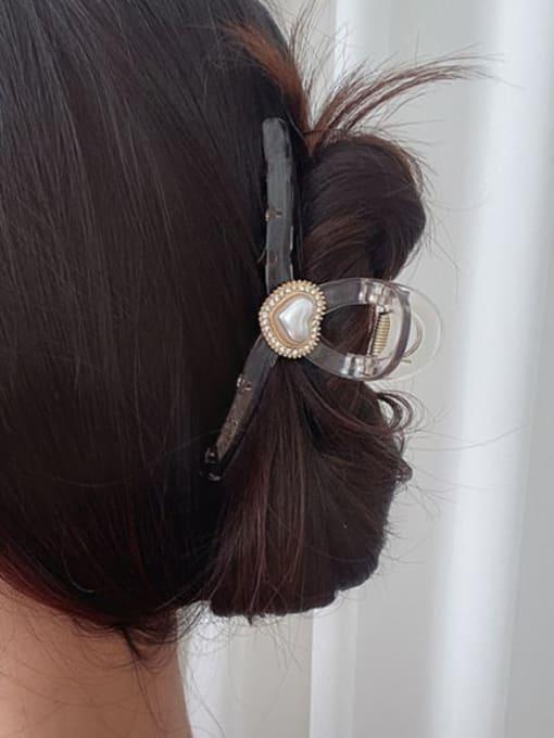 Chimera Alloy Rhinestone Plastic Vintage Geometric  Jaw Hair Claw 1