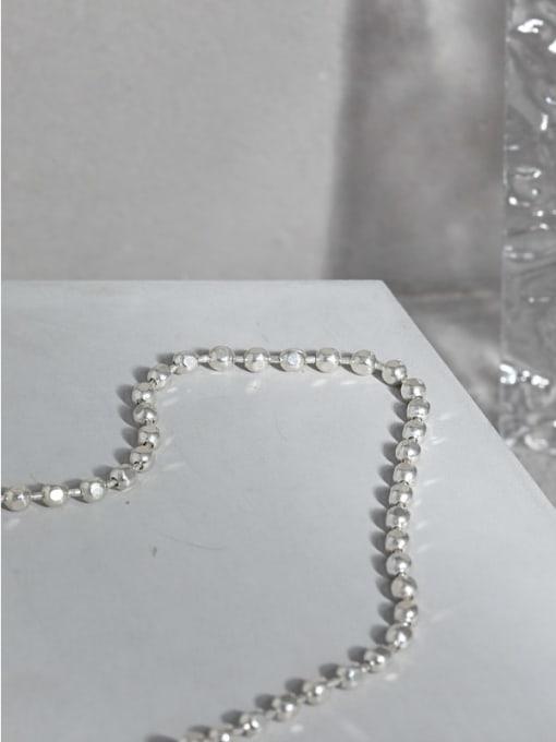 DAKA 925 Sterling Silver Geometric Vintage Beaded Necklace 1