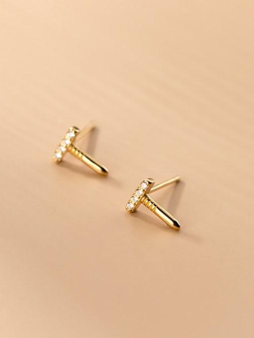 Rosh 925 Sterling Silver Rhinestone Irregular Cute Stud Earring 2