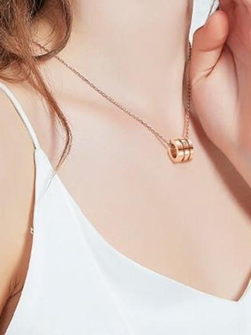 A TEEM Titanium Rhinestone Heart Minimalist Pendant Necklace 1