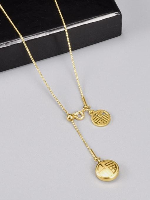 A TEEM Titanium Steel Heart Hip Hop Lariat Necklace 1