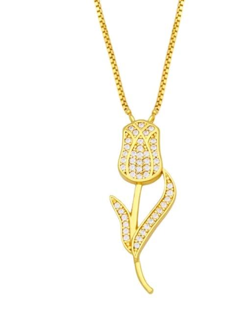 B Brass Cubic Zirconia Heart Hip Hop Necklace