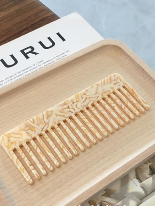 K054 stripe orange Cellulose Acetate Minimalist Geometric Hair Comb