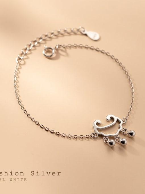 Rosh 925 Sterling Silver Locket Minimalist Link Bracelet 2