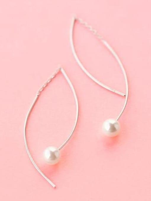 Rosh 925 Sterling Silver Imitation Pearl  Irregular Minimalist Drop Earring 2