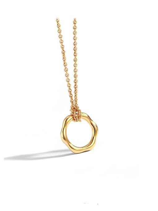 CHARME Brass  Hollow Geometric Vintage Pendant Necklace 0