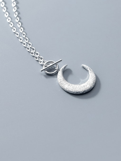 Rosh 925 Sterling Silver Moon Minimalist Necklace 3