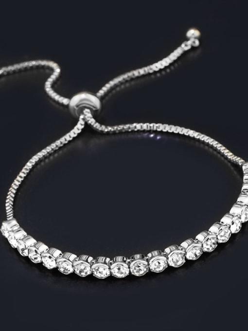 steel Alloy Cubic Zirconia Geometric Bohemia Adjustable Bracelet