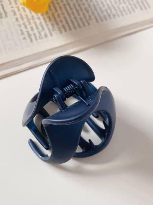 Dark blue 6cm Alloy Resin Minimalist Irregular Jaw Hair Claw