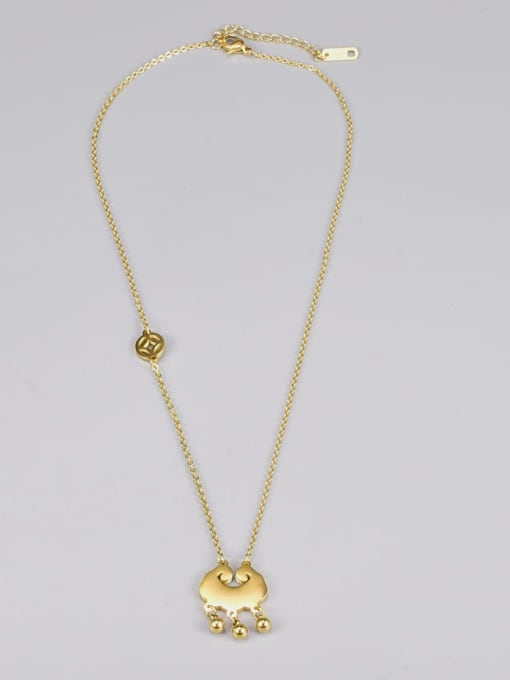 A TEEM Titanium Steel Shell Locket Vintage Necklace