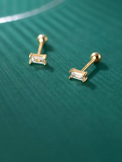 Rosh 925 Sterling Silver Cubic Zirconia Geometric Minimalist Chandelier Earring
