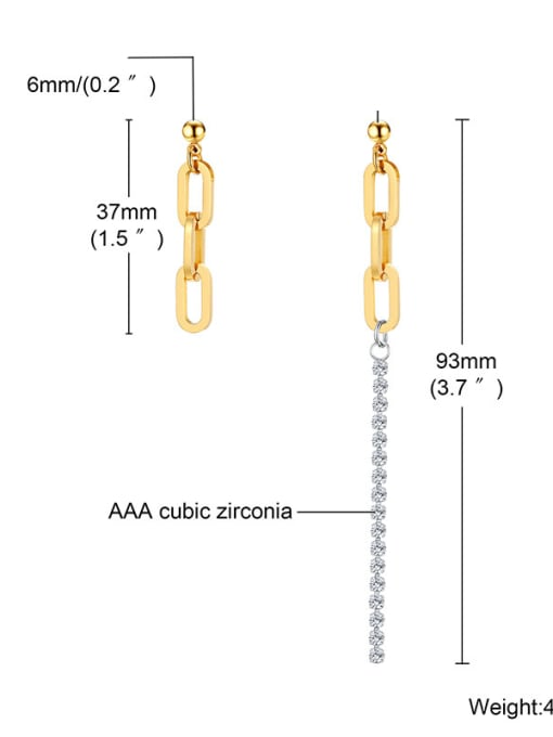 CONG Titanium Steel Geometric Minimalist Drop Earring 3