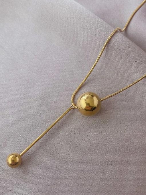 A TEEM Titanium Steel Tassel Minimalist Lariat Necklace 1