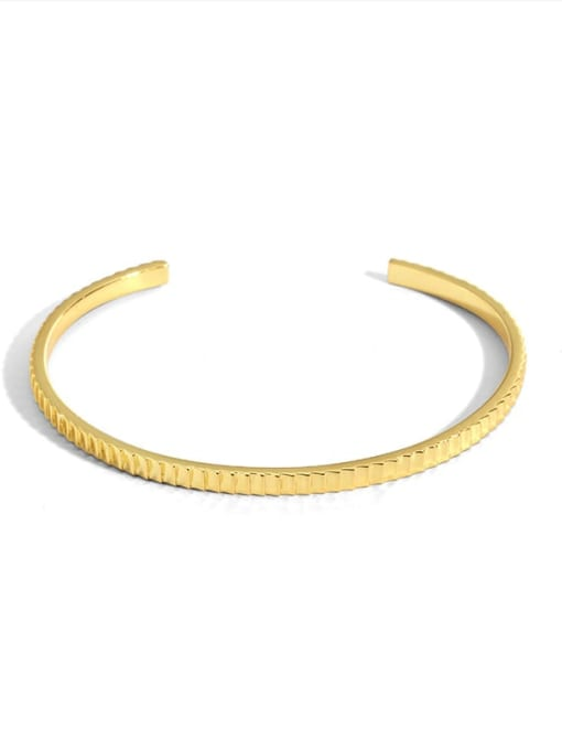 golden Brass Gear Geometric Vintage Cuff Bangle