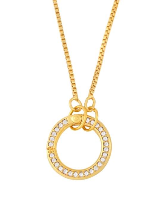 C Brass Cubic Zirconia Irregular Vintage Necklace