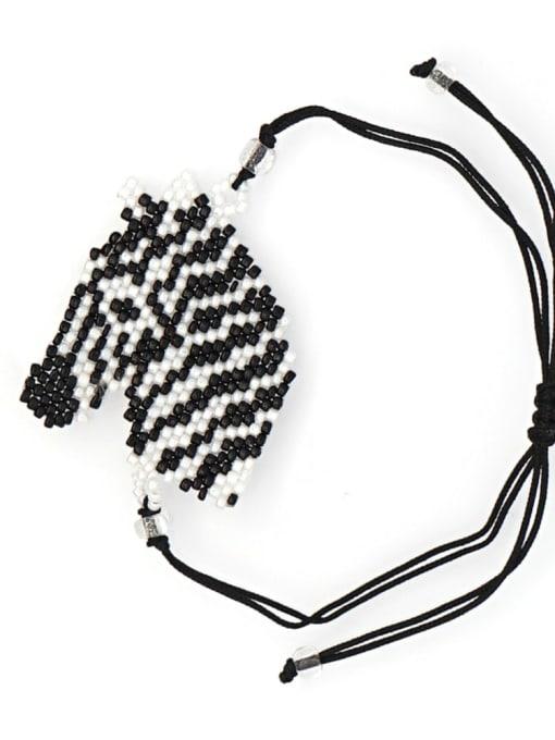 MG B190023A Stainless steel miyuki Bead Icon Bohemia Adjustable Bracelet