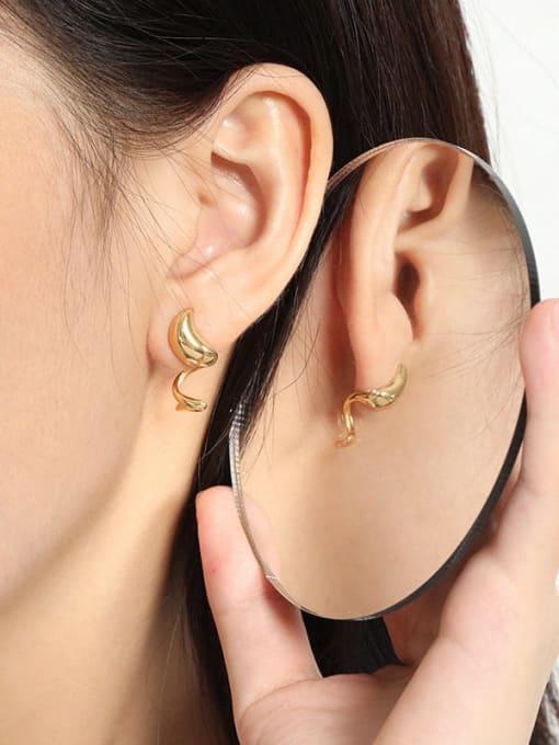 DAKA 925 Sterling Silver Irregular Vintage Stud Earring 2