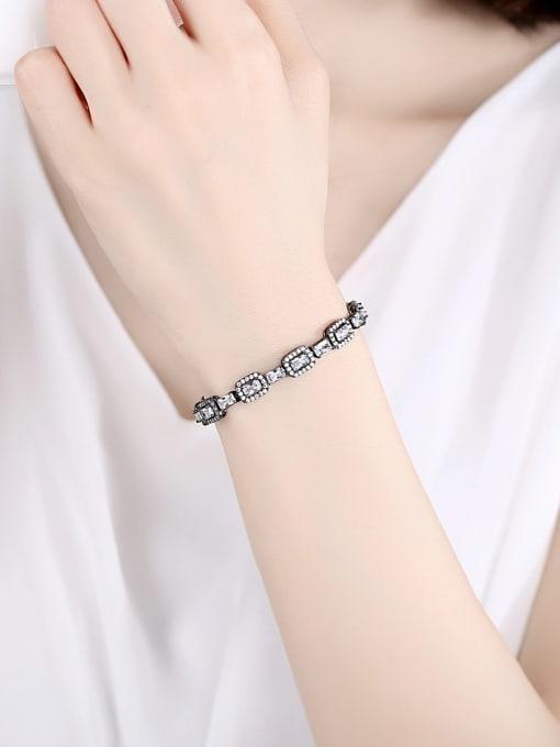 BLING SU Copper Cubic Zirconia Geometric Luxury Bracelet 1