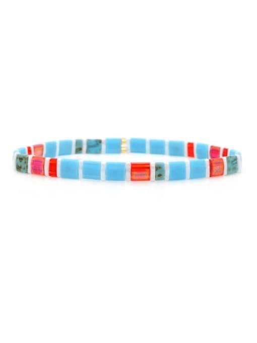 TL B190265B Stainless steel  TILA Bead Multi Color Geometric Bohemia Handmade Weave Bracelet
