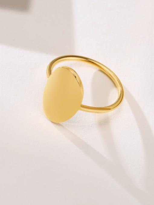 CONG Titanium Steel Smooth Geometric Minimalist Band Ring 0