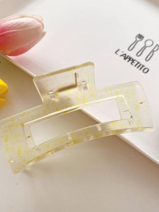 Yellow 10.5cm Cellulose Acetate Minimalist Geometric Jaw Hair Claw