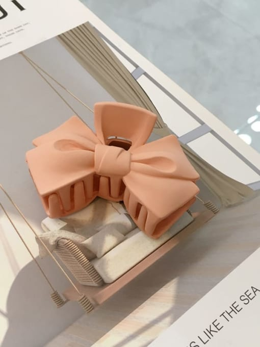 orange Cellulose Acetate Minimalist  multicolor Bowknot Jaw Hair Claw