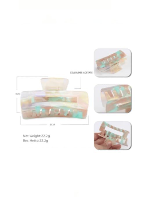 HUIYI Cellulose Acetate Minimalist Geometric Zinc Alloy Multi Color Jaw Hair Claw 3