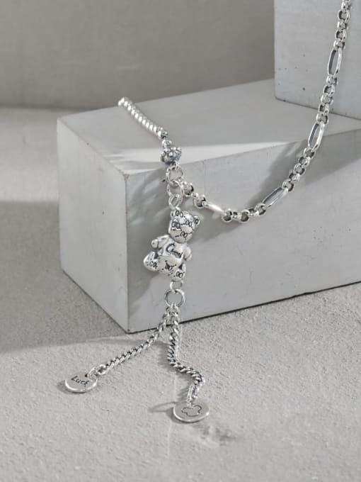 DAKA 925 Sterling Silver Tassel Vintage Tassel Necklace 1