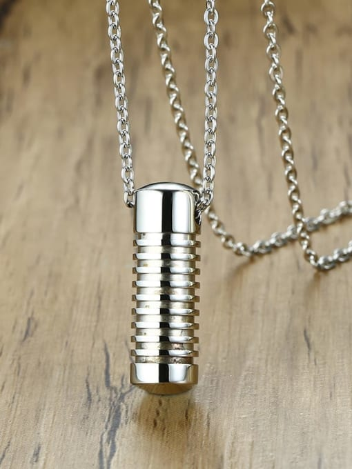 CONG Stainless steel Geometric Minimalist Necklace 3