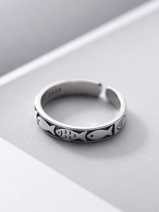 Rosh 925 Sterling Silver Round Minimalist Band Ring 0