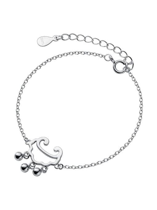 Rosh 925 Sterling Silver Locket Minimalist Link Bracelet