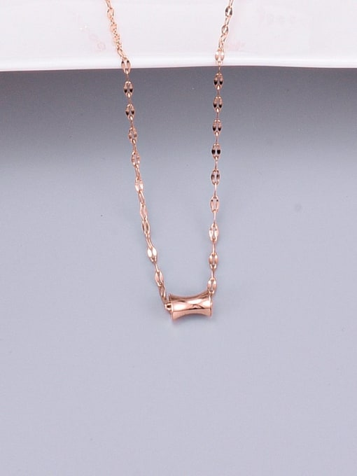 A TEEM Titanium Steel Geometric Minimalist Necklace 1