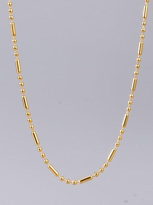 A TEEM Titanium Steel Smooth Round Vintage Necklace 2