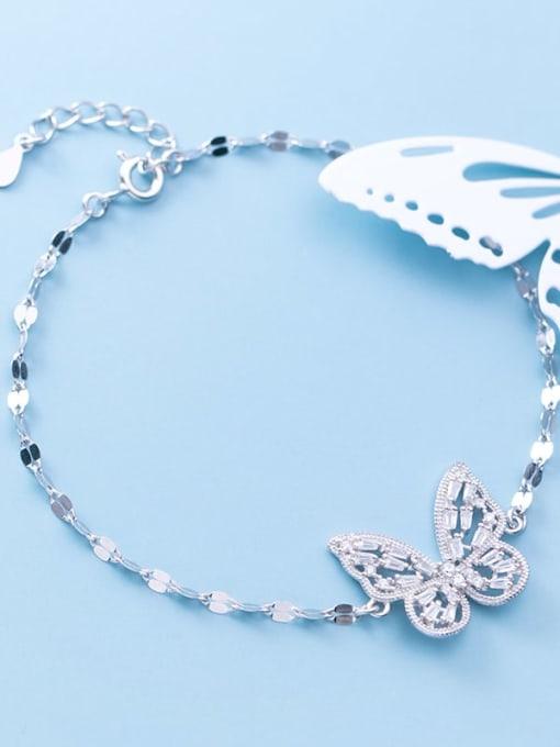 Rosh 925 Sterling Silver Cubic Zirconia Butterfly Dainty Link Bracelet 0
