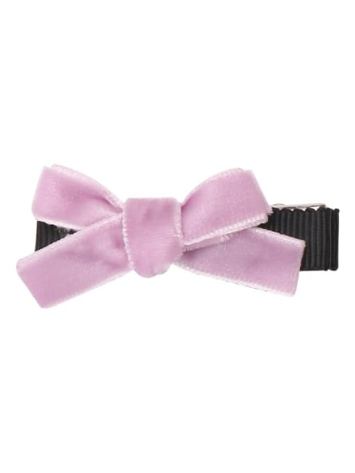 10 lavender purple Alloy Fabric Cute Bowknot  Multi Color Hair Barrette