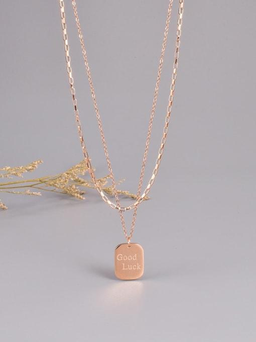 A TEEM Titanium Steel Geometric Minimalist Multi Strand Necklace