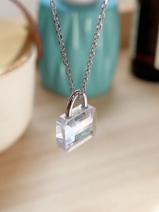 Boomer Cat 925 Sterling Silver Locket Vintage Mini Zircon pendant Necklace