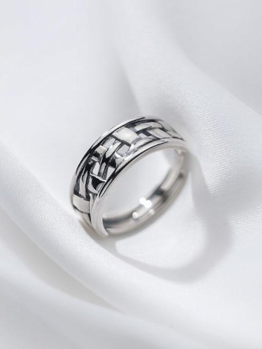 Rosh 925 Sterling Silver Irregular Vintage Band Ring 3