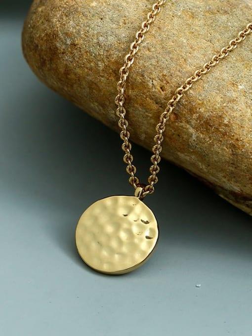 CHARME Brass Geometric Minimalist  Pendant Necklace 1