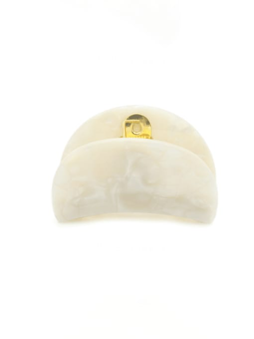 Pearl White Cellulose Acetate Minimalist Geometric Zinc Alloy Jaw Hair Claw