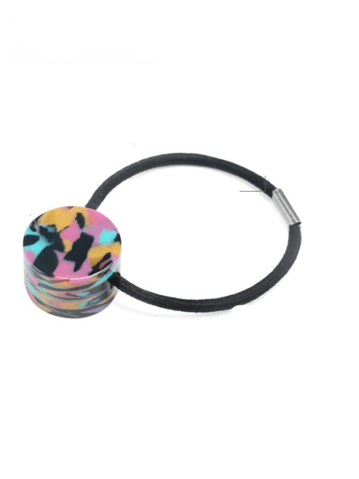 Dazzling color Cellulose Acetate Minimalist Geometric Hair Rope