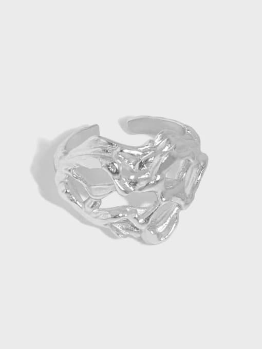 DAKA 925 Sterling Silver Heart Vintage Band Ring 3