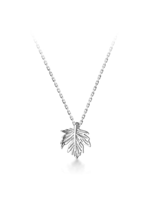 Rosh 925 Sterling Silver Leaf Minimalist Necklace 4