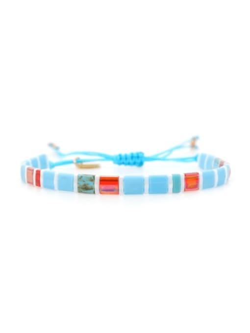 TL B190265A Stainless steel  TILA Bead Multi Color Geometric Bohemia Handmade Weave Bracelet